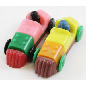 Pair of Multi-Color Plastic Roadsters