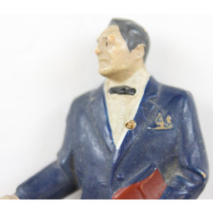 "Gilbert Plastic Figurine of ""M"" James Bond's Brilliant Boss"