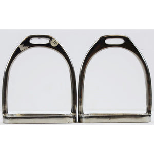 "Pair of Silver Horse 4 1/4"" Stirrups"