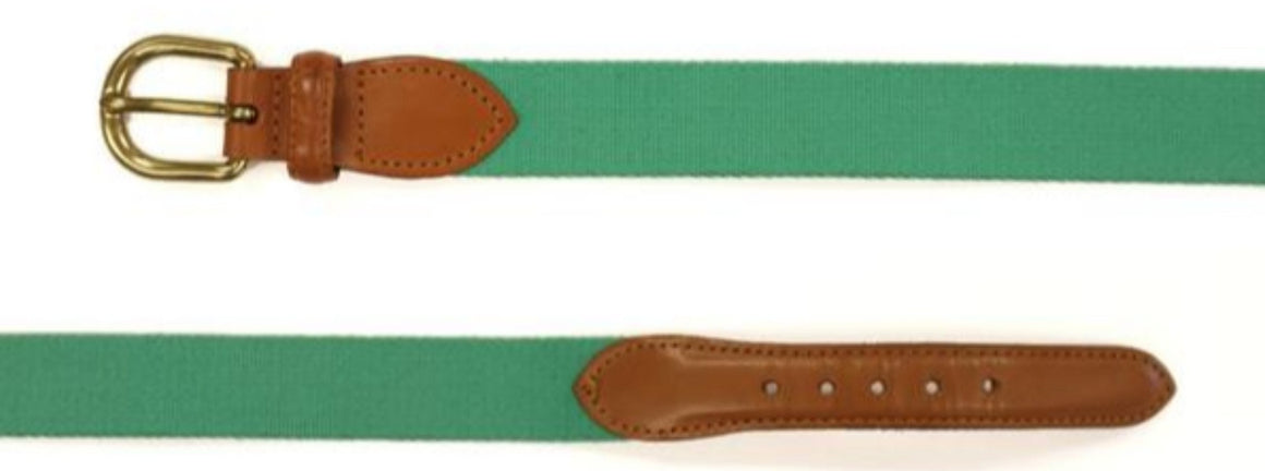"'Paul Stuart Green Surcingle Belt' Sz: 34""W"