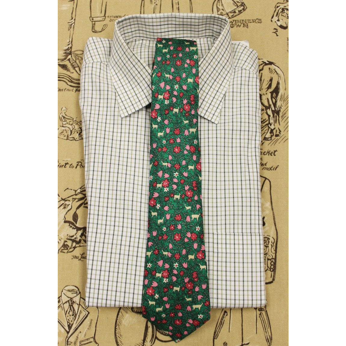Hermes of Paris Floral Print Tie
