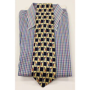 Paolo by Gucci Golfer Motif Tie