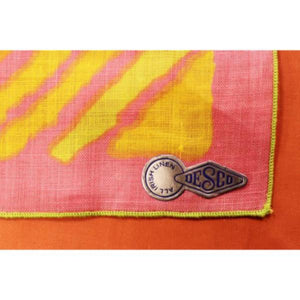 Desco Irish Pastel Abstract Linen Pocket Sq