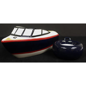 Ceramic Chris Craft Crudite Platter