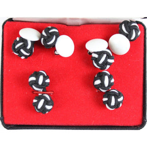 B&W Silk Knots 2 & Stud Buttons 3