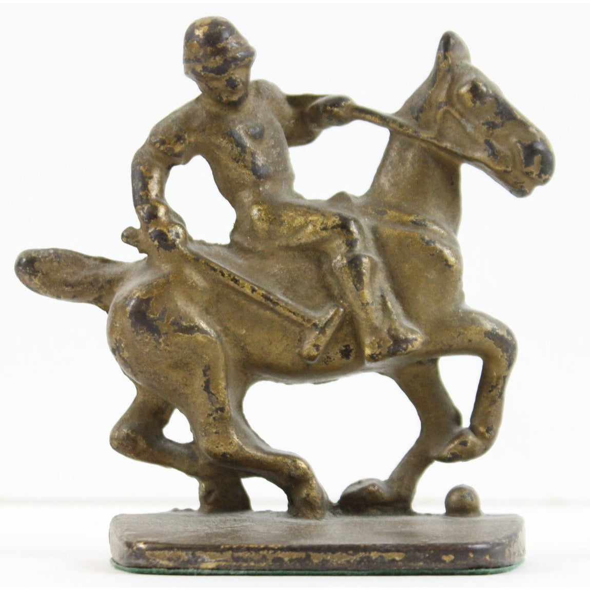 Polo Player Bronze 1930s Bookends