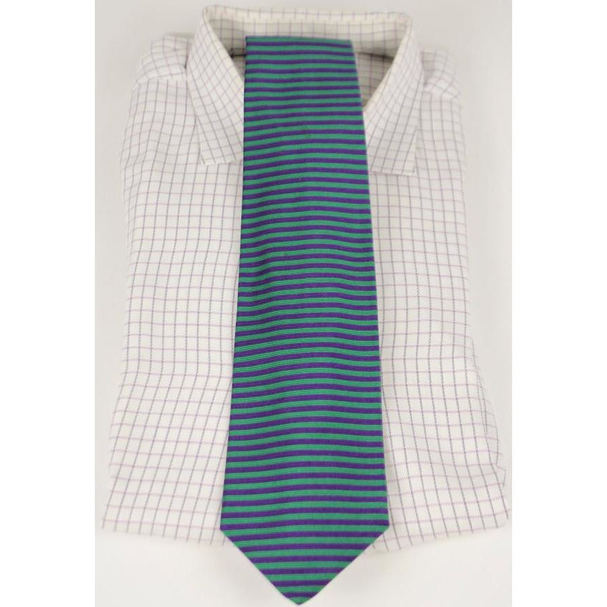 Brooks Brothers Green/Purple Horizontal Stripe Tie