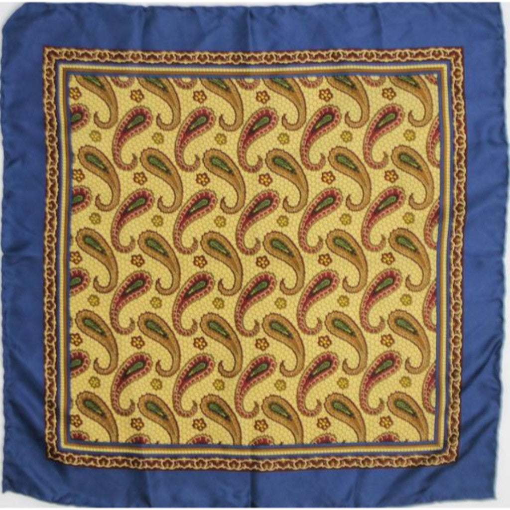 'Bergdorf Goodman Paisley Motif Silk Pocket Sq'