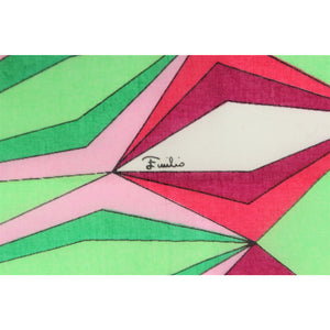 Emilio Pucci Cotton Abstract Pocket Square