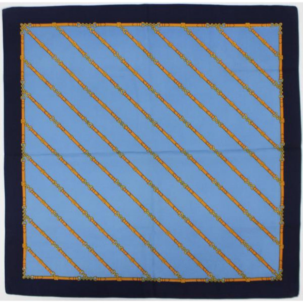 'Equestrian Belt Diagonal Stripe Pocket Square'