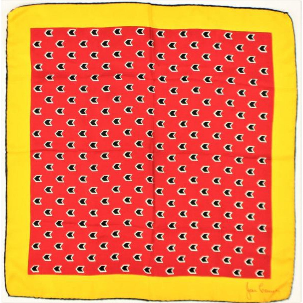 'Jean Casanave Silk Pocket Sq'