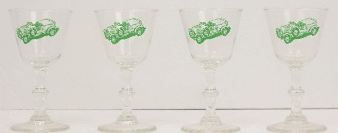Set of 4 1929 Bentley Sherry Glasses