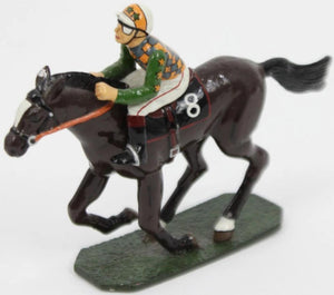 Lead Jockey & #8 Racehorse on Plinth Base