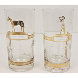 Pair of Sport Kings Highball Glasses