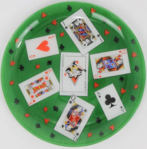 Playing Cards Glass Tray