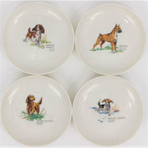 Syracuse Chine Sporting Dog 4 Dishes