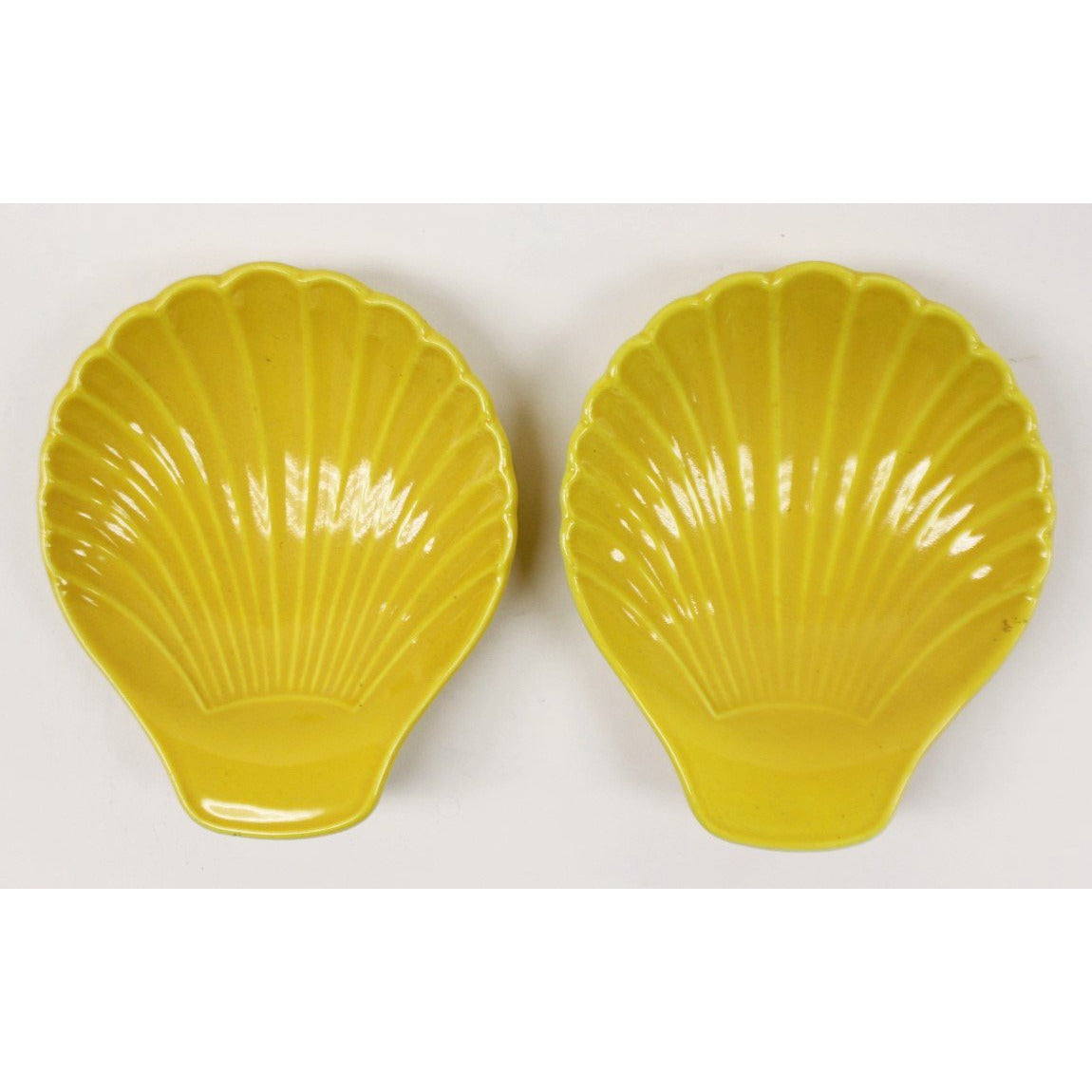 Pair of Scallop Shell Ashtrays