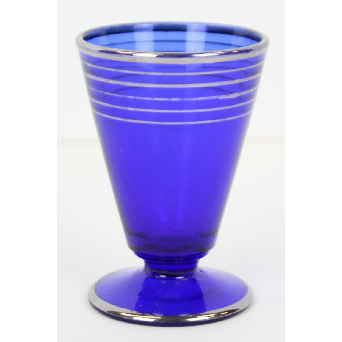 Set of 3 El Morocco Blue Sherry Glasses