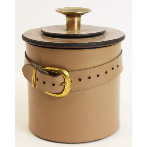 Cork-Lined Leather Humidor