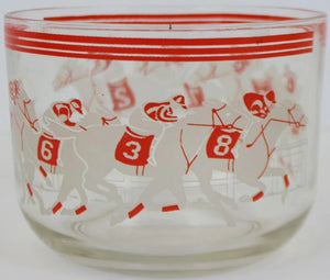 8 Racehorses Glass Ice Bowl