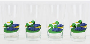 Set of 4 Mallard Duck Glasses