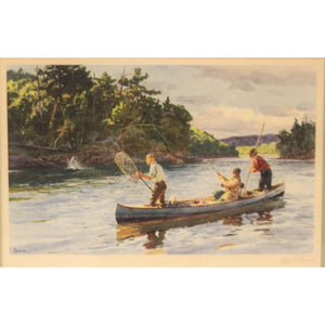 """Atlantic Salmon Fishing"" 1939 by Ogden M. Pleissner"