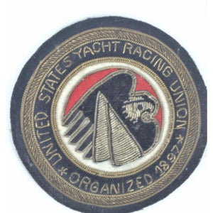'United States Yacht Racing Union Organized 1897 Bullion Blazer Crest'