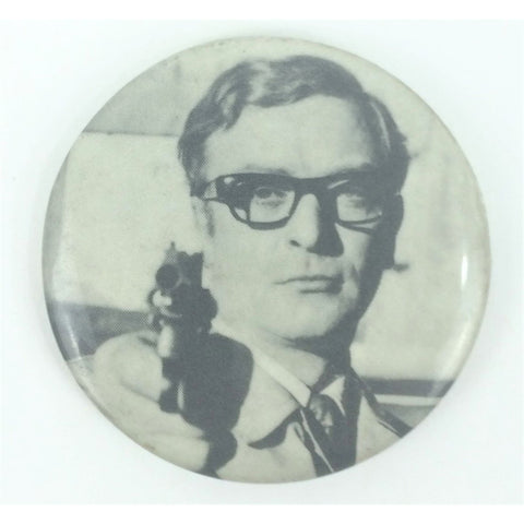 """Michael Caine The Ipcress File B&W Pin"""