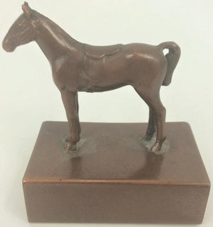 Metal Horse Matchbook Holder