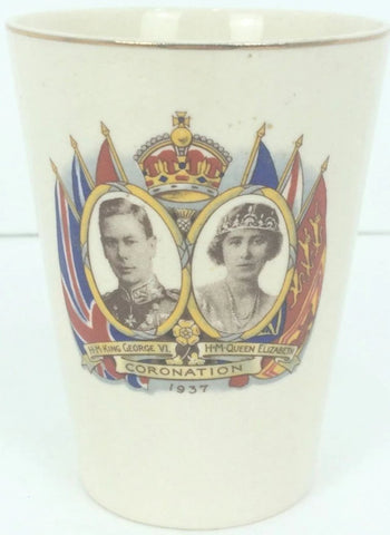 1937 English Coronation Porcelain Cup