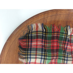 Scotch Tartan Laminated Serving Plate