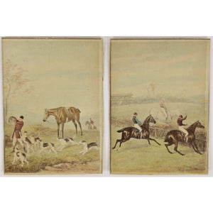 Pair of English Sporting Scenes on Card