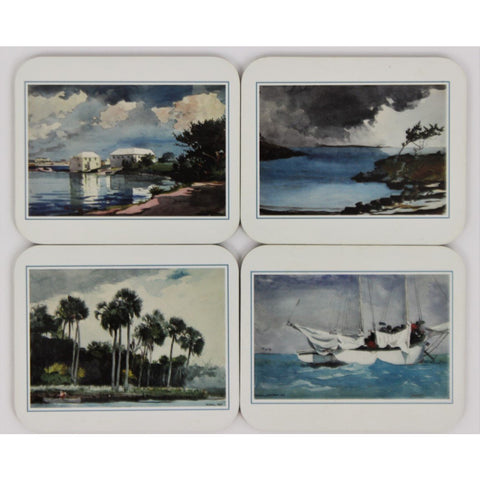 Boxed Set of 4 Winslow Homer Cocktail Coasters
