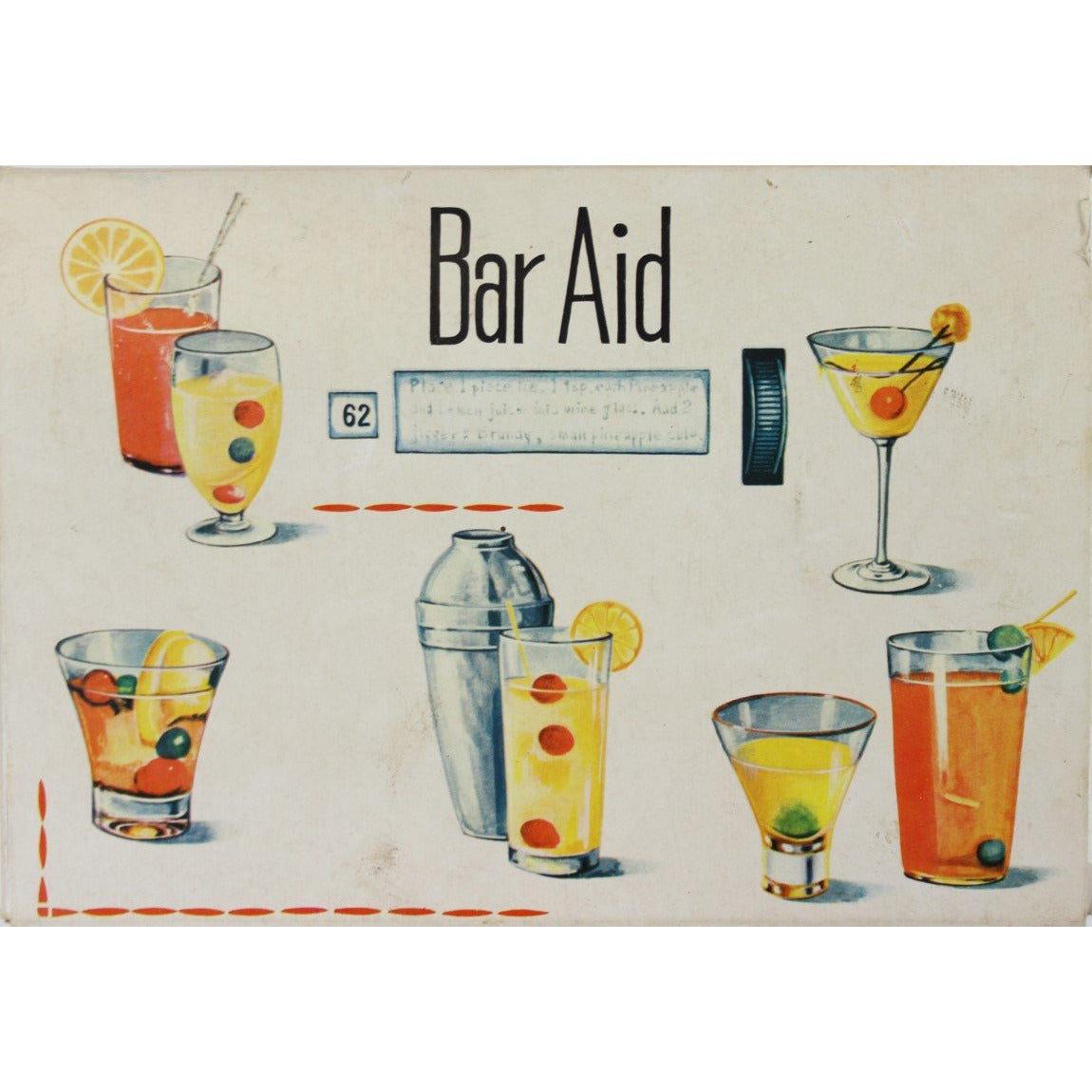 Bar Aid Cocktail Recipes Rolodex