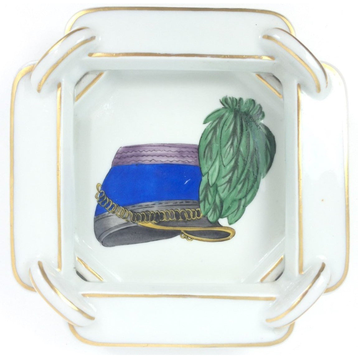 Limoges Grenadier Porcelaine Ashtray