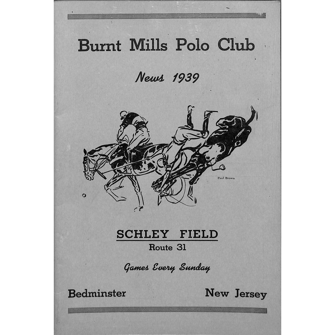 Burnt Mills Polo Club News 1939
