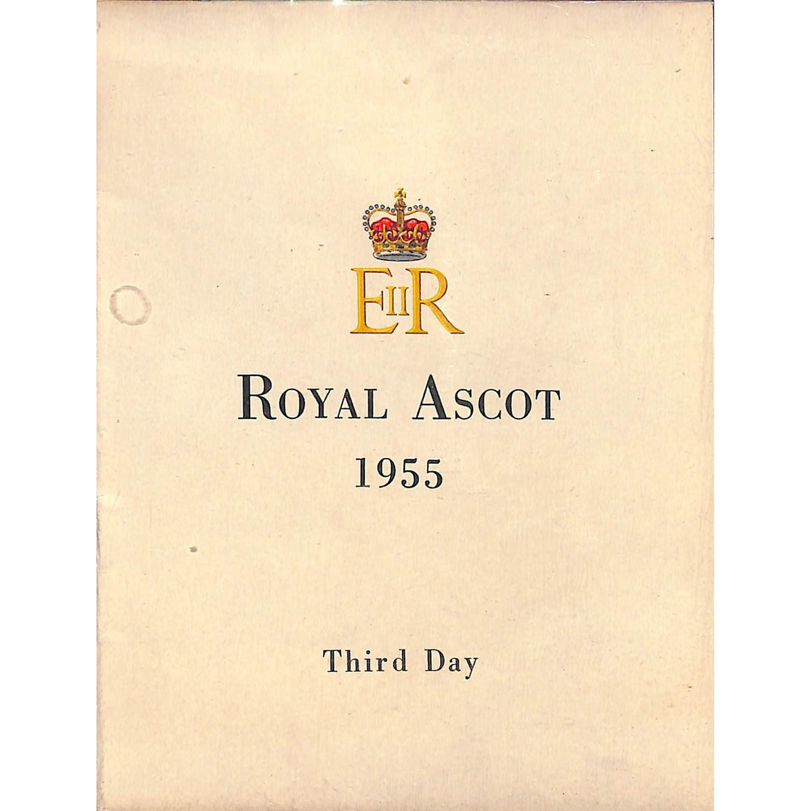 Royal Ascot 1955 Official Programme