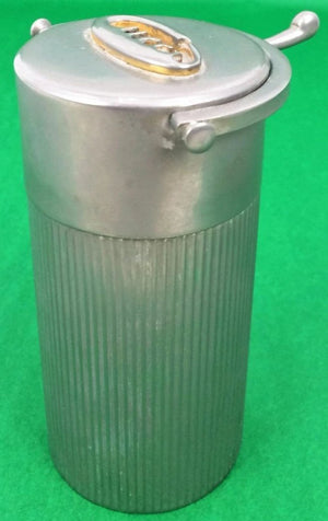 Gucci of Italy Cigarette Cylindrical Chrome Cork-lined Humidor