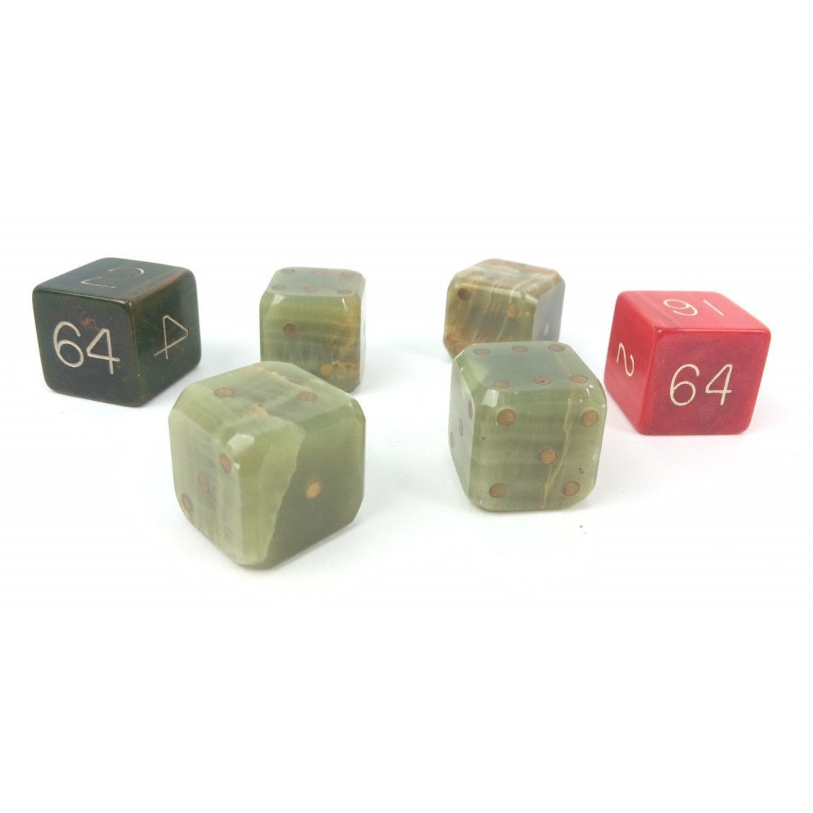 Set of 4 Backgammon Dice & Pair of Doubling
