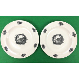 Pair of Rex Whistler Design Clovelly Wedgwood Butter Plates