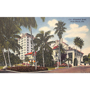 Whitehall Hotel, Palm Beach Postcard