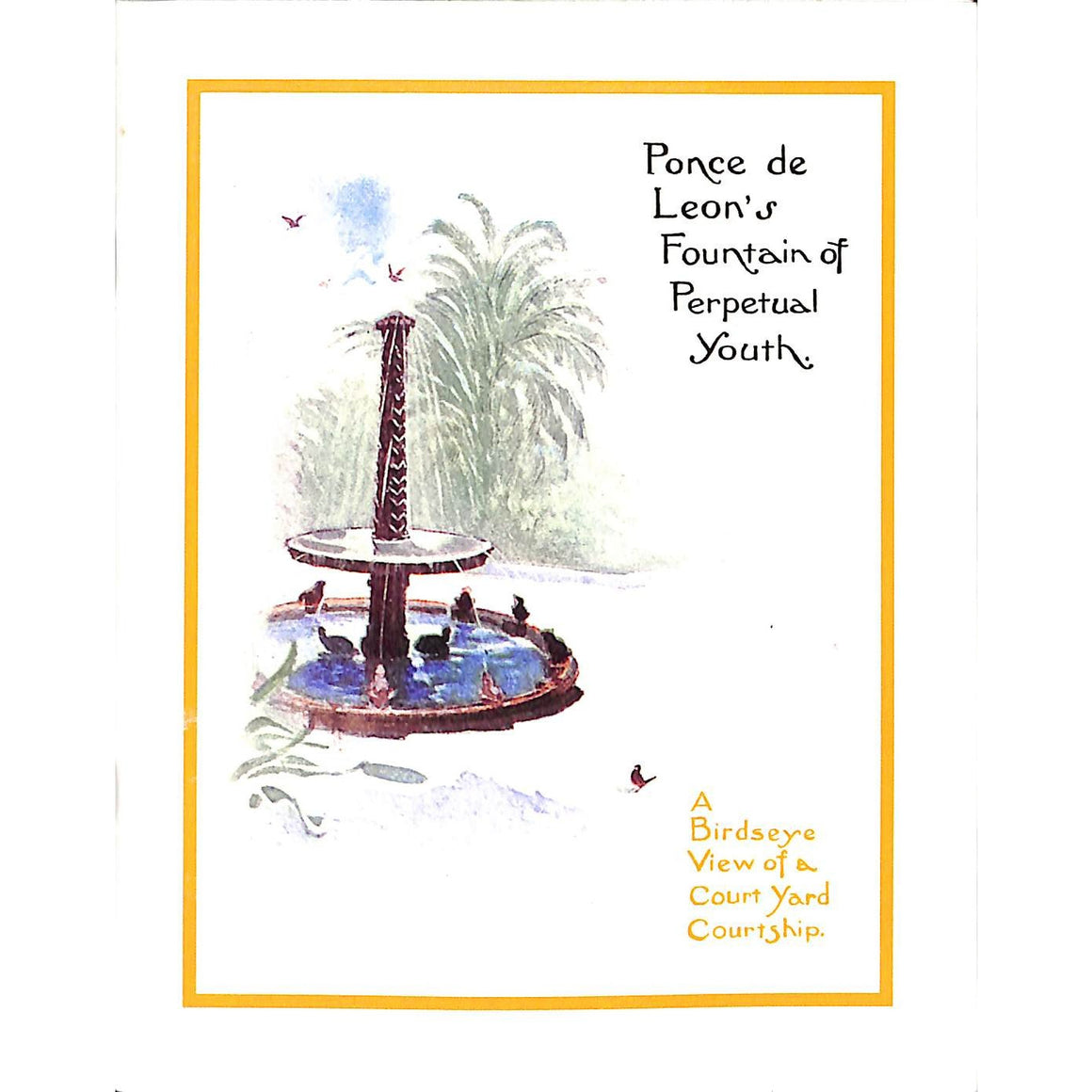 Ponce de Leon's Fountain of Perpetual Youth: A Birdseye View of a Court Yard Courtship