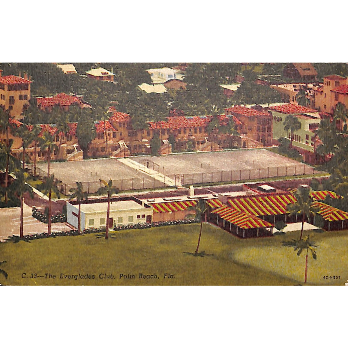 The Everglades Club Palm Beach Postcard