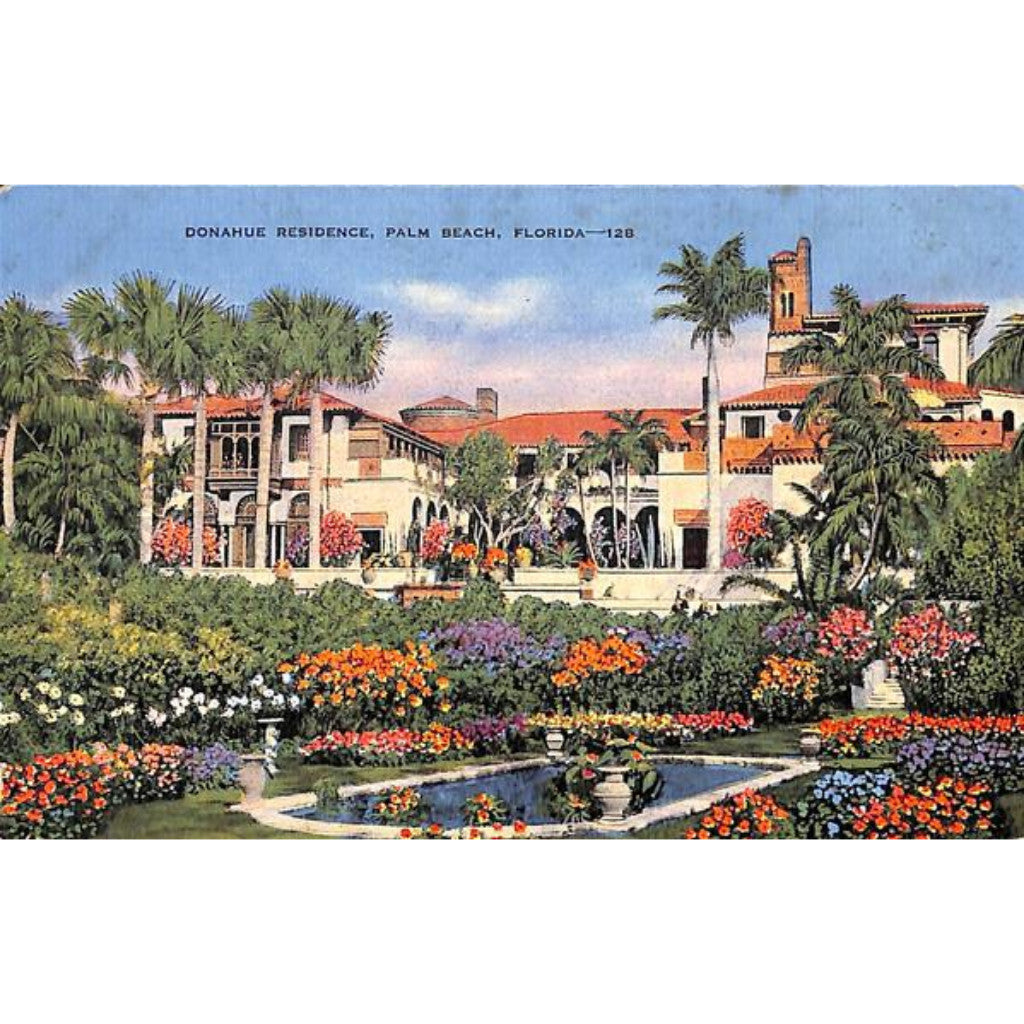 James P. Donahue Residence, Palm Beach Post Card