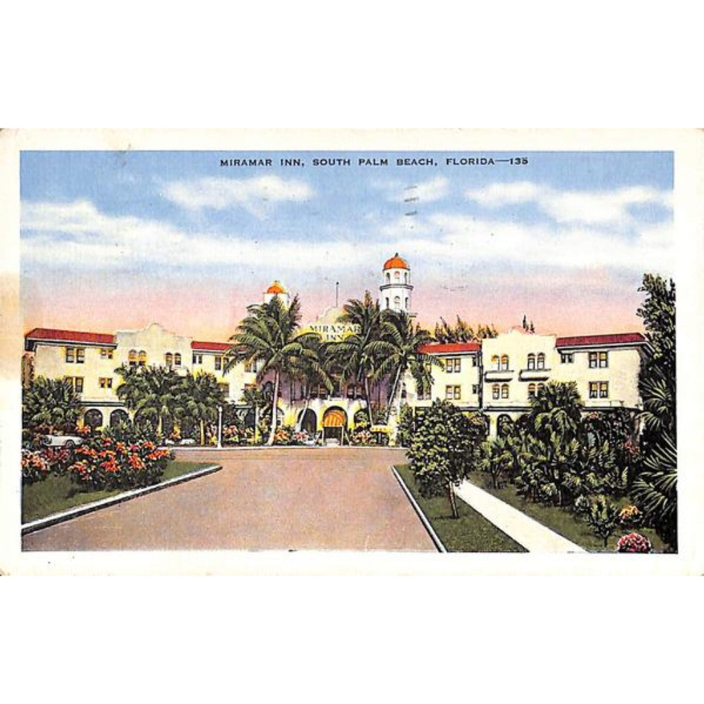 Miramar Inn, South Palm Beach Post Card