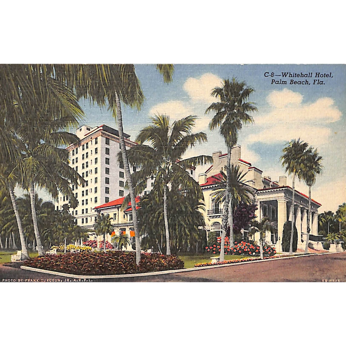 Whitehall Hotel, Palm Beach Post Card