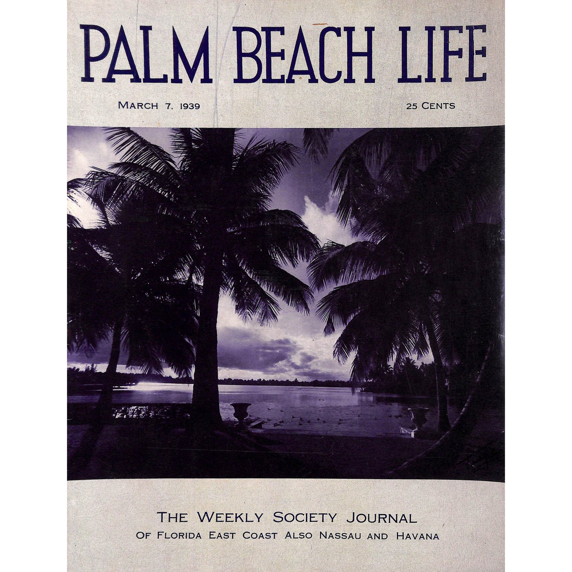 Palm Beach Life Magazine March 7, 1939