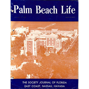 Palm Beach Life Magazine January 15, 1952
