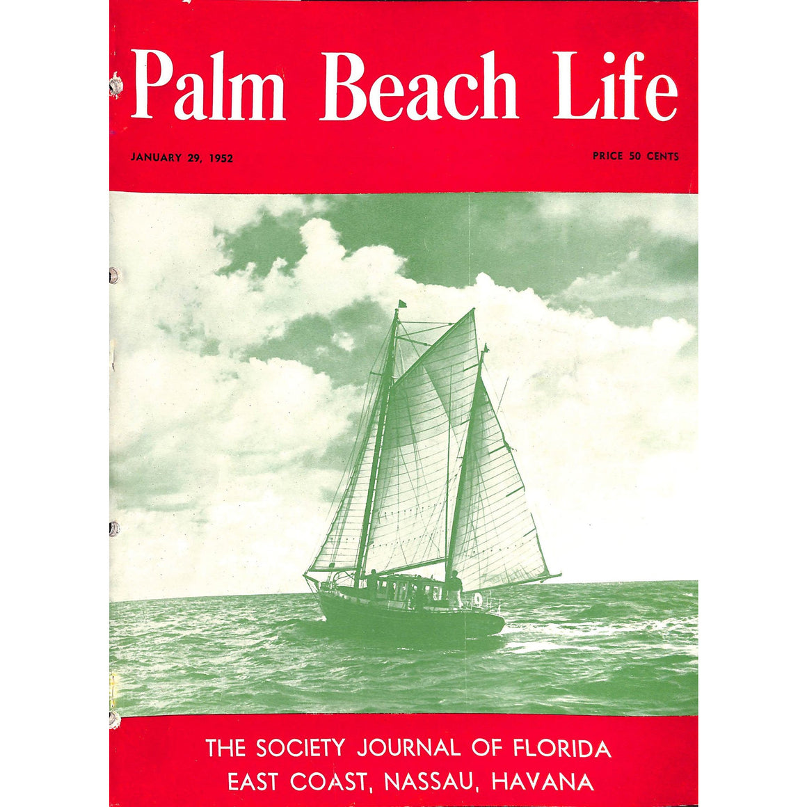 Palm Beach Life Magazine January 29, 1952