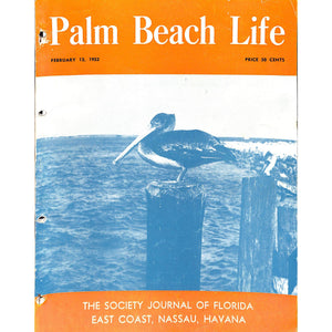 Palm Beach Life Magazine February 12, 1952